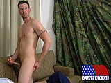gay porn Hunky Hero Releases Hi || Senior Airman Zach Served Several Tours of Duty In Iraq and Afghanistan. He Was Ground Support In the Air Force Where He Had to Pull Out His Weapons to Ward Off the Bad Guys a Few Times. as He Tells His Stories of War, His Uniform Is Stretched to the Limit by the Bulging Muscles Beneath. His Crystal Blue Eyes Have the Look of a Man Who Is Ready to Serve His Country At a Moment's Notice. as His Attention Turns to the Video He's Been Given to Watch, the Crotch of the Dark Blue Pants Begins to Swell. He Rubs At the Bulge From Outside the Trousers Before Shoving His Hand Underneath.  as the Heat In the Room Increases, He Unbuttons His Shirt and Pulls Up His White T Shirt, Revealing Rippled Abs and a Well Developed Chest. When He Removes Them Completely, a Tattoo Rings His Left Bicep, Which Grows With Each Caress of His Chest and Cock. as He Eases His Pants Down, His Thick Cock Pops Up and Points Slightly to His Left. He Grabs the Monster and Begins Stroking Slowly, as His Balls Bounce Against His Taint.