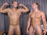 Two Hot Straight Buddies Comfortable Enough to Jerk Off Side by Side. Guys Jerking Their Dicks. Perhaps They Didn't Anticipate Being Side by Side With Their Asses In the Air for Inspection. Everyone Had a Good Laugh During Filming.