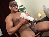 gay porn Str8 Black In Fleshlig || Adam Strips and Plays With His New Toy...