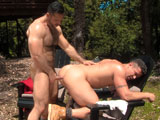gay porn Muscle Ridge - Scene 1 || Deep in the woods muscle-man Trenton Ducati strokes his thick and meaty cock, releasing his manly pheromones and drawing the attention of furry uncut muscle-god Adam Champ. With rock hard bodies and thick throbbing cocks they come together to heed the call of nature and indulge their cock-hungry appetites. Sweat pours and dick juices flow as Adam drives his thick piece of uncut meat into Trentons tight muscled ass. Their animal sex noises make for one hot and sexy man-on-man mating call.