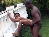 Interracial Outdoor Sex ||