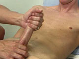 gay porn Derek - Part 3 || That cock did get big as Mr. Hand uses 2 of his hands to jerk and stroke on that cock as Derek moans and groans with growing pleasure. It didn't take long for this hot twink to explode his gusher of cum. He erupted all over everything.