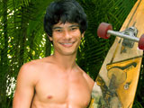 Kim - Hawaiian Skater Boy Jerks His Thick Hard Board!