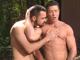 gay porn Muscle Ridge Scene 4 || Keeping his massive muscular body in top form, COLT Stud Trenton Ducati takes every opportunity to give his finely tuned muscles a workout. Deep in the woods Trenton works up a sweat and gives his bare muscles a good, hard pump. Rugged nature-boy Dolan Wolf is on the prowl and catches Trenton in a moment of bulging self-satisfaction. Feeling the post workout surge of testosterone, Trenton greets Dolan by taking a mouthful of his big rock-hard dick. Hungry for sexual contact these guys go at each other, devouring cock and groping hard muscles until they shoot their man-sized loads.