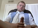 Sean Holmes Is Tired of Working. Instead He Pulls His Cock Out and Jerks It on the Job.