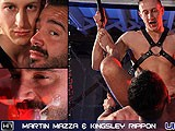 gay porn Martin And Kingsley || Martin Mazza Is In the Sling to Offer Maximum Penetration for Kingsley Rippons Fat, Juicy Uncut Dick