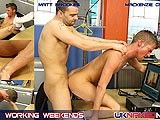 gay porn Mat And Mackenzie || Mackenzie Is the Horny Young Intern, Whilst Matt Is the Voyeur Boss, When Mackenzie Is Caught Wanking Matt Fucks His Juicy Hole Full of Man-cock