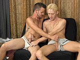 gay porn Marky And Angel || Marky and Angel Both Happened to Stop by At the Same Time, so Franco Puts Them In a Room Together for Some Awkward Kissing and Mutual Masturbation.<br />