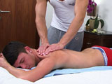 gay porn Young Pup Oli Hall || Oli is back, younger brother of other popular model Jay and this time for some muscle massage from our resident Mr Hot Hands, Zack! Oli is not in his clothes for long and quickly strips off and jumps on the bed to await Zack's gentle, yet firm fingers!