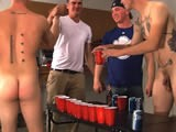 We Were All At a Chick;s House Playing Beer Pong, and My Buddies Mark and George Decided to Up the Ante by Playing Strip Beer Pong, and They Lost. When You're Talking About Two Hot Straight Marines Who Love to Be Naked, How Can You Lose? This Video Is Great F You Like to See Straight Guys Naked Around Clothed Buddies (cmnm)