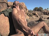 gay porn Kevin Crows Jerks Off || Kevin Crows Jerks Off In Front of a Mirror and In the Desert
