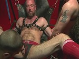 gay porn Hung Up And Ready Pig || Mike James Finds Himself In a Sling About to Get What He Ask For; Four Fists, Deep and Hard.  Bud Rose and Sexy Fister Will Helm Lube Up and Take Turns Fisting the Daylights Out of Mike's Pig Hole Until He Can't Take Anymore!