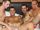 Gay Porn from AmateursDoIt - Xtra-Uncut-Footage-Of-4way