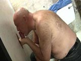 gay porn Hairy Daddy At The Glo || Chubby Hairy Daddy Sucks Glory Hole Cock