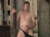 Stocky Daddy Jerking His Cock ||