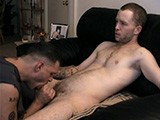 gay porn Cock Fight - Johnny || After His Shift At the Donut Shop Drive-thru, Johnny Heads Over to My Pad for Some Late Night Relief. When He Strips Down and Sprawls on the Sofa I Dive Down on His Cock and the Match Begins! I Lick Up and Down His Hard Shaft and He Grabs My Head to Control the Action. &quot;when's the Last Time You Had a Good Blowjob?&quot; I Ask Him. &quot;last Time I Was Here, I Figure&quot; He Says. While Johnny's Enjoying the Sensation I Take Out My Own Cock and Start to Rub It Against His, Naturally Lubed by the Pre-cum Oozing From Both Our Cocks. &quot;it Feels Nice!&quot; He Says as He Busts a Creamy Nut Against My Throbbing Cock. I Ask &quot;how Ya Feel, Alright?&quot; &quot;yeah, That Was Good, That Was Really Good!&quot; Johnny Exclaims. Round One: Vinnie!<br />