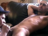gay porn Str8 As They Cum - Pau || Paulie Plays With Himself Thru His Boxers Until He's Hard Then Strips Them Off. I Begin to Give Him a Blowjob and He Responds Quickly by Closing His Eyes and Squirming Around on the Sofa. When Paulie's Furry Stomach Starts to Heave He Grabs His Cock and Spills His Nut on My Tongue.<br />