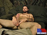 gay porn Sergeant Miles || He Finally Works His Hole Over Enough to Bring Himself to Climax. Whacking At Full Speed, He Grunts as His Chest Heaves. He Squirts Himself In the Face as a Giant Load Sprays Out of His Cock. He Continues Moaning as the Remaining Contents of His Balls Explode Onto His Chest.