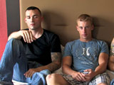 gay porn Drew Vic And Wayne || Got my three favorite victims here, jokes Active Duty's guest director Mike as we open on this hot three way scene with Drew, Vic and Wayne. Mike lets the guys get comfortable and the action moves naturally, starting with the 3 muscular guys stripping down. Wayne grabs Drew's rod, Drew grabs Vic's pole, and we've got a little daisy-chain of jerking action. Soon, Drew has leaned over to take Vic's member in his mouth, while Wayne continues to work Drew over with his hand. It isn't long before Drew has relinquished Vic's rod and moved over to Wayne's member, to give him some oral attention.