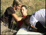 Three Nice Young European Guys Outdoor