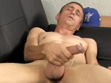 gay porn A053: Louie's Audition || Young Dad and Ex-military Man Louie Strokes His 8-inch Cock for the Camera. After He Nuts, He Leaks His Semen Down the Front of His Huge Balls and Onto the Floor.
