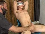for the Right Price, Warren Agrees to Be Tied Up, Blindfolded and Jacked Off by Another Guy. Franco Makes Warren Cum Using a Masturbation Sleeve on Him, but Can Warren Cum a Second Time for Extra Cash?