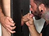 gay porn G104: Joe D || Joe D's Girlfriend Is Out of Town, and He Needs to Drain His Balls. Franco Invites Him Over to Use the Gloryhole, and Joe Accepts, Not Realizing It's Going to Be the Best Head He's Ever Gotten!