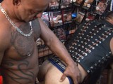 gay porn Pornstore Bareback Bre || Colin Steel Heads Down to the Local Video Store to Get Fucked and Used by Tattooed and Pierced Daddy Bo Banger.