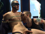 gay porn Jesse Carl || Jesse Carl's first boy boy experience: This hairy straight stud who's a little anxious to have two dudes play with his cock, so we tie him down in the chair with a blindfold over his eyes. This straight hottie may be a little nervous but it doesn't take much to get his big cock rock hard. We tear away his clothes and start toying with his cock, pressing vibrating hitachi's on his cock head till he's about to blow. Bound on the bed, Van and Sebastian edge Jesse's cock while sucking on his delicious hairy toes. Jesse begs for us to make him cum so we shut him up with a ball gag in his mouth and shove a vibrator up his ass. We fuck him with the dildo, milking his prostate the more and more we edge. Finally Jesse blows his load all over his chest before giving him a taste of post-orgasmic torment.