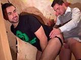 gay porn Seduced On The Stairwa || on the Stairway Julien Shoves His Big Boner Deep Into Choking Morgan's Throat. but Jock-strapped Morgan Can't Let That Dick Alone and Pulls His Fucker Further Into the Cellar to Let Him Fuck His Ass Until They Both Shoot Their Wad.