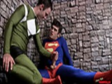 Superman Encounters His Only Weakness and Is Taking Down With Some Heavy Ballbusting by the Evil Villain.
