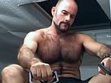 gay porn Hairy Hunk Aaron Works || Aaron Is a Fitness Buff and Likes to Keep His Body Fit and Trim. In This Clip Aaron Starts His Workout In a Tank Top, Ball Cap and Shorts but It Isn't Long Before He Takes Off the Hat and Shirt and Shows Us His Hairy Chest and Sculpted Muscular Physique.
