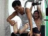 Gay Porn from LaughingAsians - Ticklish-Gym-Buddy