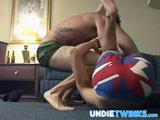 gay porn Underwear Wrestle Fight || Two Straight Friends Wrestle to See Who Can Rip Off the Other Ones Underwear! Asses Show and Dicks Slip Out as These Two Frat Guys Struggle to Keep Their Underwear! Watch as a Modest Straight Guy Is Striped Out of His Underwear Now In High Quality At the Best Gay Underwear Fetish Site on the Net! Go to Undietwinks Now for a Free Tour!