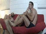 Lance Hart Has Somehow Gotten the Position of a High School Guidance Counselor, and Simon Has Come to Him for Help. Simon Is Having Problems Controlling His Erections and It's Embarrassing Him At School.<br /><br />lance Has Experience With This, and Wants to Help, so He Starts Simon With &quot;ballbusting Therapy,&quot; Which Is Pretty Much an Excuse to Get the 18 Year Old Stripped Down to His Boxer Briefs and Abuse His Balls. Lance Keeps Calm and Collected as He Tries to Explain to Young Simon How the Therapy Works, With Knees, Grabs, Squeezes and Punches to His Balls.<br /><br />eventually Lance Has His Foot Isolating One of Simon's Balls Against His Own Leg, and He Calmly Explains to Struggling Simon That He's About to Rupture on of His Balls. After Lance Pops It, He Tells Simon That His Erection Problem Is Over, Smiles and Walks Off While He's In Agony.<br /><br />male-male Ballbusting, Squeezes, Grabs, Knees, Punches<br />