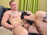 gay porn Antonio And Logan || Two Uniformed Military Studs Get Together for Some Hot Cock Sucking.