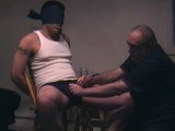gay porn Blindfold Submission - || College Jock Ethan Agrees to Being Bound to the Chair and as the He Zones In on the Sounds of Porno Flick He Quickly Gets Hard. I Start Jerking His Cock and He Responds to My Strokes so I Start Blowing Him. I Can Tell He's Very Excited and Soon Ethan Blows His Load on My Tongue.