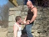 Seems like Sajkov and Bruce are in the mood to fuck outdoors. To boot, at a construction site. More like, Men At Anal Work! Pull out the cocks and ass. Let the cock sucking and anal sex begin. Non-stop anal pounding between these two sexy European Hunks. Enjoy!