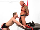 gay sex porn Brian Bonds Dominates Sean Dur || Bound jock Sean Duran is tied up on his knees with his hands behind his back and stretched to the ceiling. Brian Bonds enters and teases the helpless jock. Brian pull his hard cock out and makes Sean suck it till he begs for more.