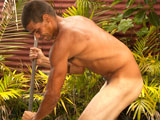"gay sex porn Malu Is Back || Malu and his HUGE 9"" uncut Black Hawaiian cock is BACK, working construction balls out naked and busting a BIG load outdoors in this exclusive video from Island Studs. Half African American and half Hawaiian, Malu makes a MONSTER impression: standing a towering 6'5""! Only 22 years old, this 100% Hawaiian boxing cage fighter has the most massive UNCUT BLACK cock hidden in his fight shorts! Malu's brown body is Hawaiian smooth: completely hairless except for the thick bush of dark BLACK untrimmed dick hair covering his GIANT uncut cock! This Hawaiian thug is more ripped, muscular, silent and mean than the young innocent 18 year old boy we first photographed years ago! Malu makes mean look so sexy! When out of the ring, Malu likes to unwind with surfing and lifting weights and it shows. Imagine this gigantic Hawaiian surfer catching waves naked with his donkey dong dangling in the wind! Watch Malu strip and walk into the garden fully nude with his raging hard uncut cock flopping around! The camera captures Malu's tight body from EVERY angle as he bends over shoveling dirt and cement! Malu is a real man's thug and he is comfortable working hard and nude! His smooth brown ripped body becomes covered with sweat as he works. Feast your eyes on this tall tough Hawaiian's lean muscle body and HUGE UNCUT COCK! After work Malu sits fully naked on a chair and lubes up his monster cock for a lengthy hard core JO session! Malu manhandles his thick uncut cock, playing with his BIG BLACK NUTS and foreskin as he strokes. This horse hung Hawaiian becomes so excited when he busts! Loads of white jizz cover his furry crotch and brown ripped abs! This cum shot is NOT to be missed! With cum STILL oozing out of Malu's throbbing cock, he walks to the outdoor tropical shower. Watch as bad boy Malu soaps up his smooth muscle body and his stiff UNCUT cock. Malu is STILL HORNY and ROCK HARD during the entire shower scene! Malu, the tough Hawaiian with the 9"" uncut cock, is one sexy HUNG warrior! If you like soft spoken tattooed street thugs, this sexy Island Studs local surfer jock is for you! Enjoy!"