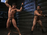 gay porn Jett Jax And Jaxton Wh || New dom of the house Jaxton Wheeler awaits on his throne as his sub Jett Jax crawls in on his hands and knees, ready to serve. He removes his master's leather jock and swallows the huge cock that awaits him before he's relentlessly beaten with the crop. His cock locked in chastity, Jett is made to swallow Jaxton's huge cock until he's flogged from front to back. Suspended in the air, Jett opens his hole for a vigorous fuck until Jaxton brings him to the ground. After a final fuck, Jaxton rewards his sub with a face full of cum and has him lick up every drop.