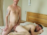 "London Lad Craig Stuffs His 8""  Uncut Cock Into Connors Very Tight and Hairy Fuck Hole"