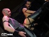 Leather Dad Suck and Fuck With Twink Fuck Buddy In Leather and Share Cum Loads In Every Hole