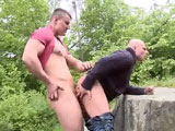 gay porn Public Anal Sex In Eur || Bruce and Luc are two crazy horny bastards. They didn't waste any time getting to the action. They started off somewhere until getting caught and running away into the woods to finish. Once they found a clear opening, things continued just hey way the wanted it to. Non-stop anal action. Enjoy!