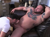 gay porn More Magnus || Our strongest man in the world bodybuilder friend has returned to get an expert blowjob.