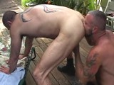 "In ""sonoma Heat"" Watch as 9 Masculine, Hung, Muscular Daddies Suck and Fuck Away a Hot Summer Day... Culminating In a Steamy 3-way Where Sam Everett Gets Double-fucked by Jake Mitchell and Jeremy Steel! If You Like Muscle Daddies and Outdoor Sex, You'll Love This Installment of Our Real Men Series. Real Men. Real Sex."