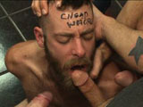 "gay porn Connor Maguire Jessie  || Seth Fisher's looking to give out some blowjobs at a cruisy sex shop so he posts an ad online letting guys know where he'll be. What the cruisers don't realize until they get to the sex shop, is that Seth's looking for ""donations"", and quickly has an attitude if you can't pay up. The guys gang up on Seth from behind when he tries to leave and gag him with his own clothes. They write ""CHEAP WHORE"" across his forehead so everyone can tell exactly what he is. They shove as many cocks as his mouth can fit before he's handgagged while getting fucked from behind. His hands bound, Seth's bent over to swallow more man meat as he's beaten with the flogger for more punishment. After the guys have another go at plowing his hole, they push the cheap whore to his knees and blow loads of cum all over his face."