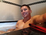 Hot Jock In Bath Jerking