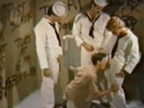 Public Bathroom Gangbang Scene From Classic Gay Porn Film Three Day Pass (1975) Featuring J.w. King. King and Two Other Sailors Encounter a Marine and Have Him Suck All of Their Cocks, Sometimes In Turn and Briefly All At Once. They Stuff His Ass, Cum In His Hair, and Then Leave Him With His Head Shoved In a Urinal.