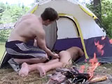 gay porn Anal Sex In The Woods  || In this weeks Out In Public were out in the woods and by the looks of things people were having a party in here the tents and all the condoms on the grass sure does make me believe that they were having a good time. We run into this one guy that we came across and he was really nice and I can tell that he was still really horny and he spotted this guy that was butt naked and still a sleep out on his tent and he decided to go introduce himself by inserting in this guys ass while he was a sleep you would think that this guy would be upset over it but not these two got it on right after he wakes up and realizes what was up his butt the action was amazing and it was out in the open for the whole world to see.